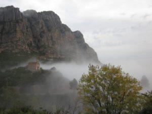 Vistes de Montserrat des de l'Alzina